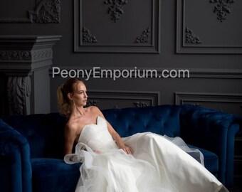 WINNIE - Sweetheart Strapless Horsehair Tier Wedding Dress