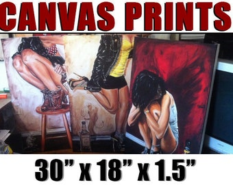 ALL CANVAS PRINTS 30 x 18 Jeremy Worst Collection  Limited Edition Original Giclee Prints art piece great gift for him her