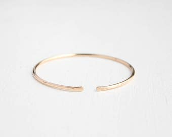 Cuff Bangle Bracelet - 14k GOLD FILLED
