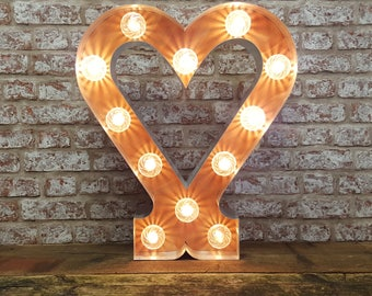 Marquee light up circus heart.