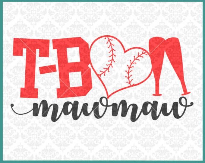 CLN0340 T-Ball MawMaw Mimi Grandma Teeball Kid's Baseball SVG DXF Ai Eps PNG Vector INstant Download Commercial Cut File Cricut Silhouette