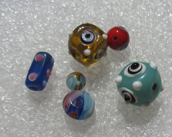 Lot Of Assorted Salvaged Lampwork  Beads