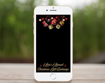 Holiday Filter, Christmas Gift Exchange, Secret Santa, Snapchat Filter, Geofilter, Christmas Party, Holiday Party, Christmas Presents