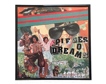 Pieces of Dreams Record Cover Collage Artwork Original Vintage Vinyl Music Shirley Bassey Album Cover Framed Wall Art Home Decor