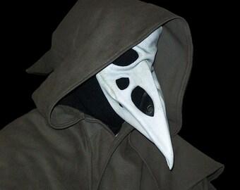 raven skull leather mask