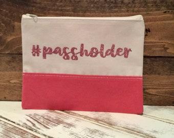 """Pink Color Block """"Passholder"""" bag"""