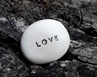 LOVE - Ceramic Message Pebble
