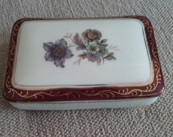 40's Porcelain trinket box and tray Rosenthal Kronack Germany