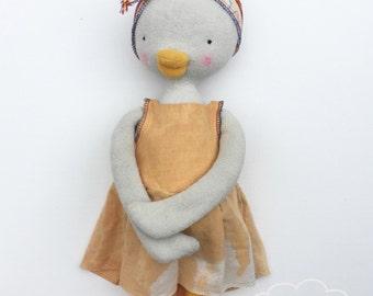 Handmade Goose Doll, RagdOlly Goose Sisters