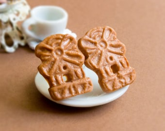 Spiced Biscuits Earrings Miniature food