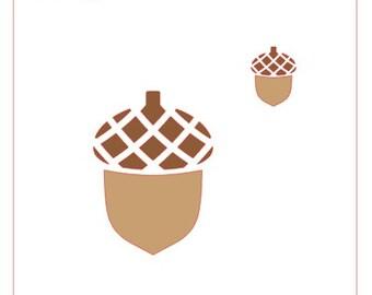 Acorn Stencil with Bonus Mini Acorn Stencil