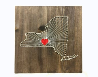 New York   State String Art New York Wall Art Home Decor