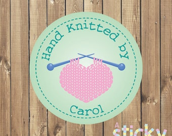 Personalized Knitting Stickers, Knitting Labels, Knitting Gift, Small Business Stickers, Knitting Stickers, Custom Stickers, Custom Labels