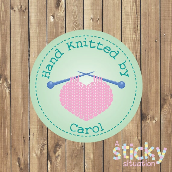 Personalized knitting stickers knitting labels knitting gift small business stickers knitting stickers custom stickers custom labels from