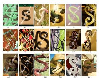 Letter S Word Art