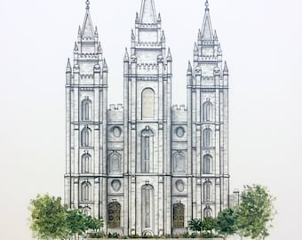 Salt Lake City LDS Temple Print