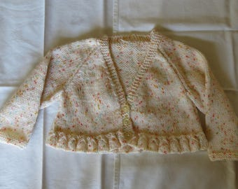 Cardigan Jacket Baby Childs Hand Knitted