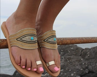 Evileye leather sandals