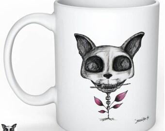 Original mug - Illustrated mug - cat - original drawing by Jess Ifer