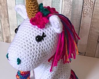 Rainbow Unicorn Crochet Amigurumi Plush