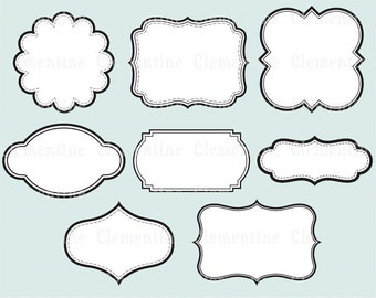 printable labels clip art images scrapbook clip art royalty free layered in psd ca109 instant download