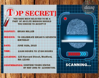 Spy invitation etsy instant download spy invitation secet agent party spy invitation secret agent invite filmwisefo Image collections