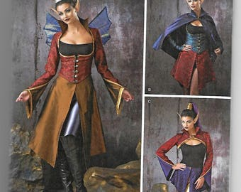 1138 Simplicity Women's Fairy Tale Creature Costume Sewing Pattern Sizes 6-12 Makes Wings Once Upon a Time Cos-Play Costume
