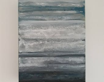 grey/blue winter sky canvas