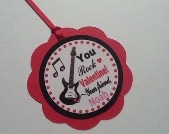 You Rock Valentine Tags, Guitar Tags
