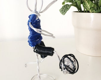 Wire Sculpture Soccer Player