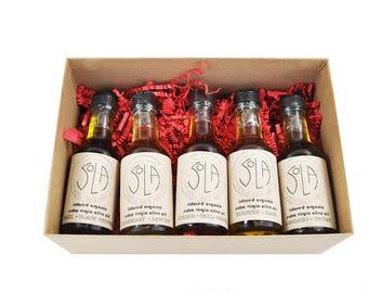 ORGANIC OIL SET: 5 infused organic olive oils