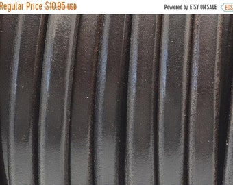 """On Sale NOW 25%OFF 24"""" Brown 10x6mm Licorice Leather Cord"""