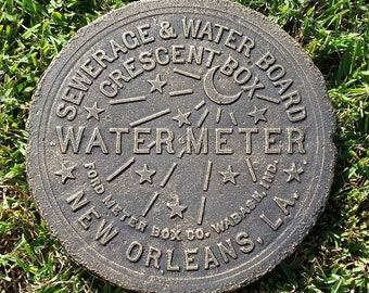 New Orleans Water Meter Cover - Gold