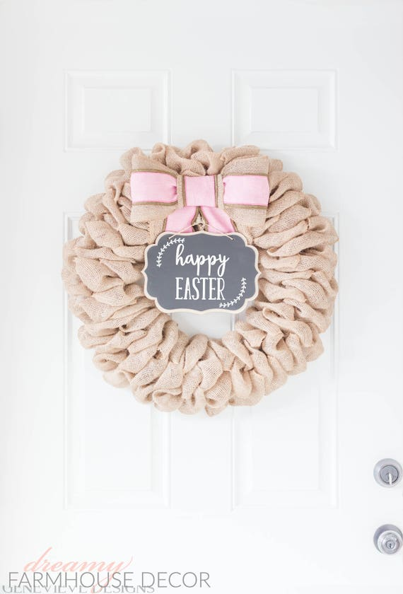 Gorgeous burlap wreath