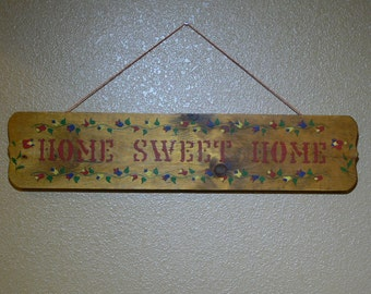 Home Sweet Home - Wood - Sign - Wall Hanger -  MG-165