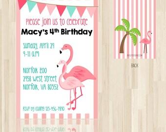 Flamingo Party, Flamingo Birthday Invitation, Flamingo Invitation, Flamingo Birthday, Flamingo Invite, Flamingo Print