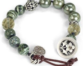 Gemstone Bracelet, Beaded Bracelet, Yoga Bracelet, Stone Bracelet, Meditation Bracelet, Mala Bracelet, Yoga Jewelry, Energy Bracelet BR458