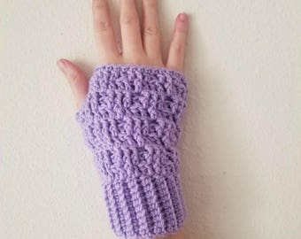 Textured Spike Stitch Fingerless Gloves Crochet Pattern *PDF FILE ONLY* Instant Download