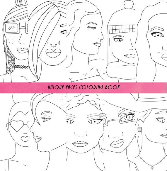 Adultos todas las edades para colorear libro caras única