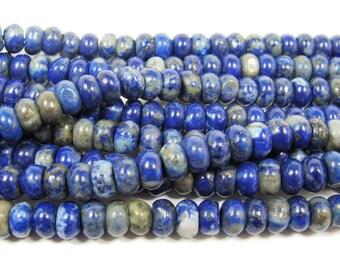 Natural Lapis Rondelles Gemstone Beads