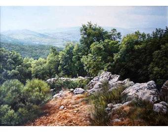 The Italian landscape. Mount Coppola.