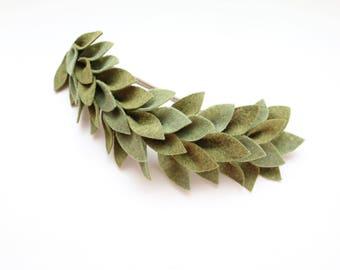 Leaf crown/ baby headbands/ nylon headband/ beautiful baby bows/ cute baby bow/ leaf crown headband