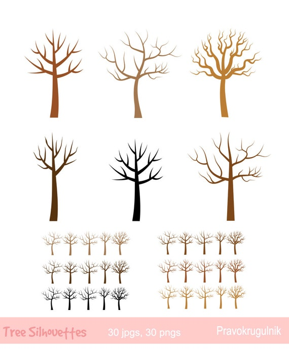 Fingerabdruck-Baum ClipArt Kahler Baum Silhouette Clipart