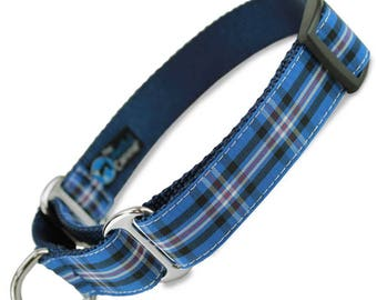 Rangers Tartan martingale dog collar