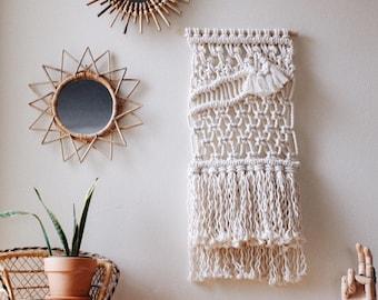 Macrame wall hanging, fiber art, modern tapestry