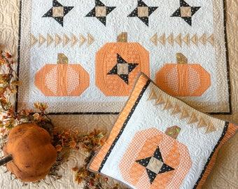 PAPER Pattern: Pumpkin Sky Wall Hanging and Pillow (Fat Quarter Friendly)