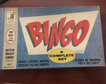 FREE SHIPPING Vintage 1960 Bingo Game 4002  by Milton Bradley