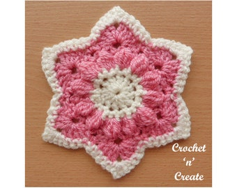 Crochet Star Motif Crochet Pattern (DOWNLOAD) CNC116