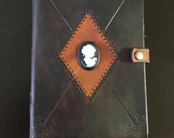 Deluxe A5 Cameo Leather Journal