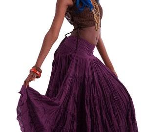 FLAMENCO SKIRT, wrap Skirt, junk GYPSY skirt, belly dancing skirt, long skirt, full skirt, Gypsie skirt, Cvskew
